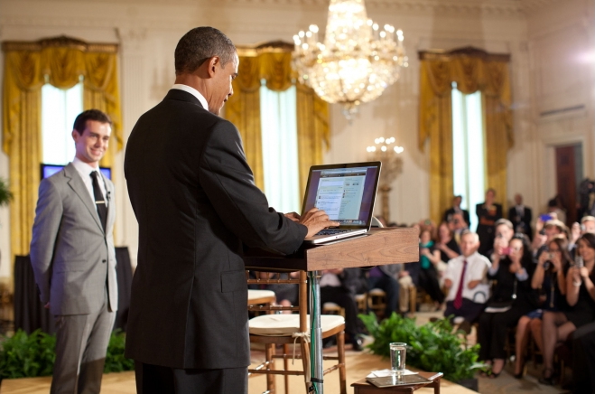 President Obama Holds A Twitter Town Hall