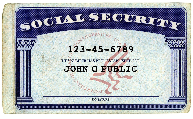Social Security Card - John Q Public