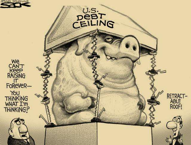 Debt Ceiling Political Cartoon